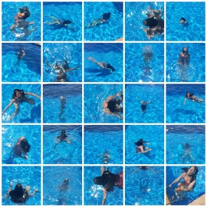 swim collage